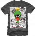Marvin the Martian in the Papers Collage Adult T-Shirt