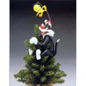 Tweety and Sylvester Porcelain Tree Topper
