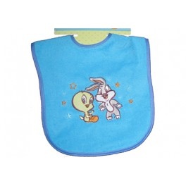 Baby Looney Tunes Terry Applique Bib (Tweety and Bugs Bunny)