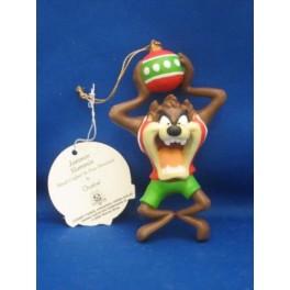 Taz Jammin & Slammin Porcelain Ornament
