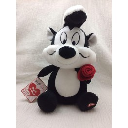 Pepe Le Pew Looney Tunes Talking Musical Plush with Red Rose