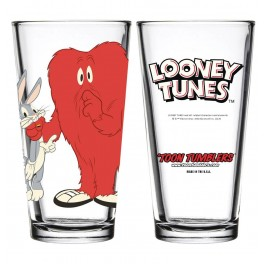"""Gossamer and Bugs Bunny """"Toon Tumblers"""" Pint Glass"""