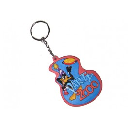 "Daffy Duck ""Party 2000"" Etched Rubber Keychain"