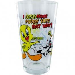 Tweety and Sylvester Pint Glass