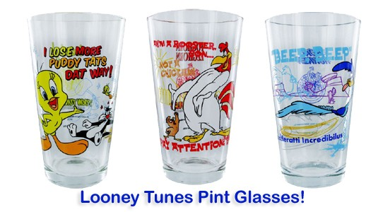 Looney Tunes Pint Glasses